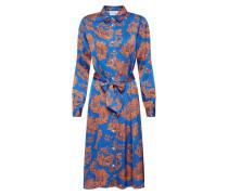 Kleid 'belinda' blau / apricot