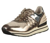 Sneaker beige / gold / silber