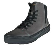 High-Top-Sneaker 'bloom' grau / schwarz