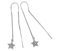 Paar Ohrhänger 'Sterne' silber / weiß
