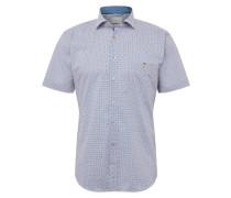 Hemd '9250' dunkelblau / weiß
