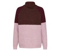 Pullover 'cora' braun / altrosa / weinrot