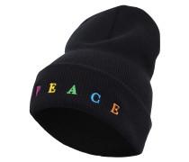 Beanie 'peace' schwarz