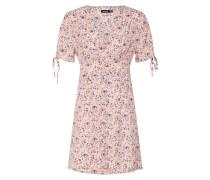 Kleid 'floral' rosa / weiß