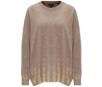 Pullover hellbraun / gold