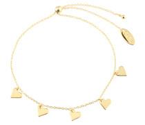 Armband 'Heart Charm Drop Slider' gold