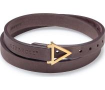 Armband 'geolea8200' dunkelbraun / gold
