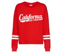 Sweatshirt 'ella' rot / weiß