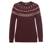 Norwegerpullover 'Lotti' bordeaux
