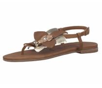 Sandalen braun / hellpink / silber