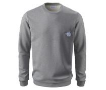 Sweatshirt 'Be a Lover' graumeliert / weiß