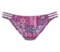 Bikini-Hose aubergine / rosa
