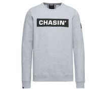 Sweatshirt 'low Box' grau / schwarz / weiß