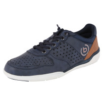 Sneaker mit Cut-Outs dunkelblau / braun