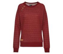 Sweatshirt 'daria Dots' dunkelrot / weiß