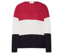 Pullover dunkelblau / eosin / weiß
