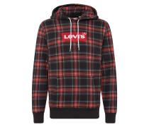 Sweatshirt 'modernhmhoodie' rot / schwarz