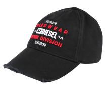 Cap 'division' schwarz / weiß / rot