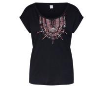 T-Shirt 'Lakota Tee' pink / schwarz