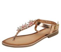 Sandale mit Zehensteg und Zierperlen