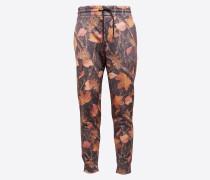Hose 'pants Sporty Aop' braun / mischfarben