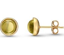 Ohrstecker '87559491' gold / oliv