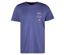 T-Shirt 'SS 12M Rhode Island' blau