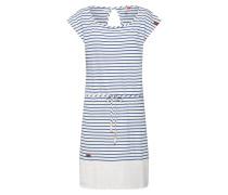 Kleid 'Soho' blau / weiß