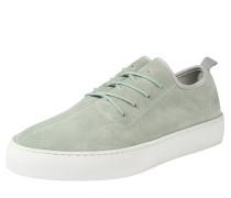 Sneaker aus Veloursleder hellgrün