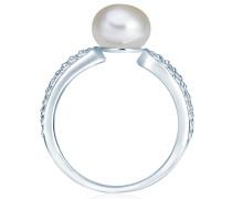 Ring mit Perlen- und Steinbesatz