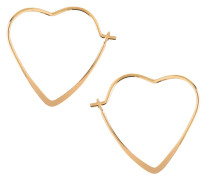 Ohrringe 'small heart hoop' gold