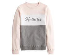 Sweatshirt 'fashion' rosé / grau / weiß