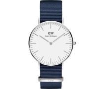 Uhr navy / silber / weiß