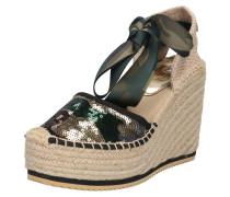Sandalen 'kilma' beige / grün / schwarz