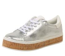 Plateau-Sneaker silber / weiß
