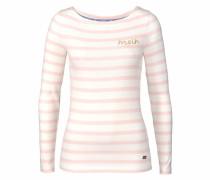 Langarmshirt rosa / naturweiß