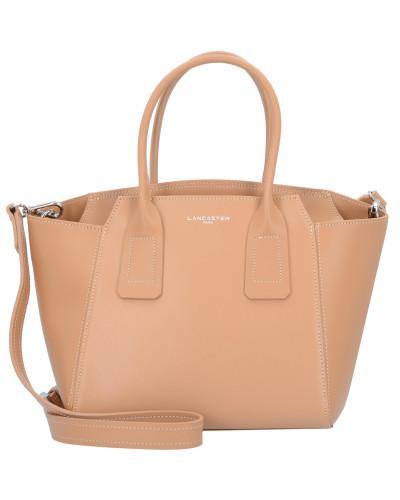 'Stella' Handtasche Leder 24 cm apricot