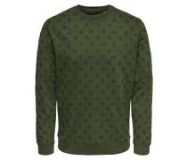 Sweatshirt khaki / schwarz
