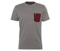 T-Shirt 'Contrast Pocket' graumeliert