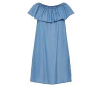 Off-Shoulder Kleid blue denim