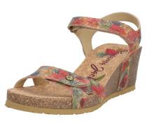 Sandale 'Julia' rot / mischfarben