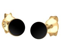 Ohrringe 'Geo Kreis' schwarz