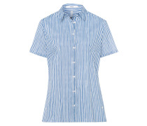 Bluse 'Viana' blau / weiß