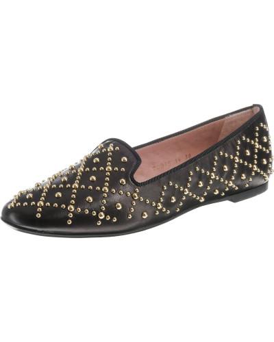 Loafers gold / schwarz