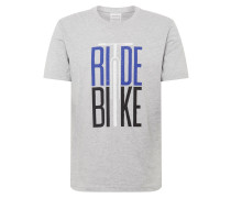Shirt 'aado Ride Bike' hellgrau
