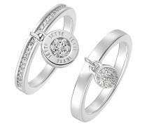 Ring silber / weiß