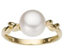Perlenring gold / perlweiß