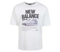 '574' T-Shirt weiß