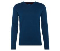 Pullover 'basic v-neck sweater' marine