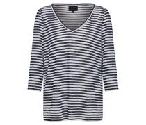 Shirt 'Tessi' dunkelblau / weiß